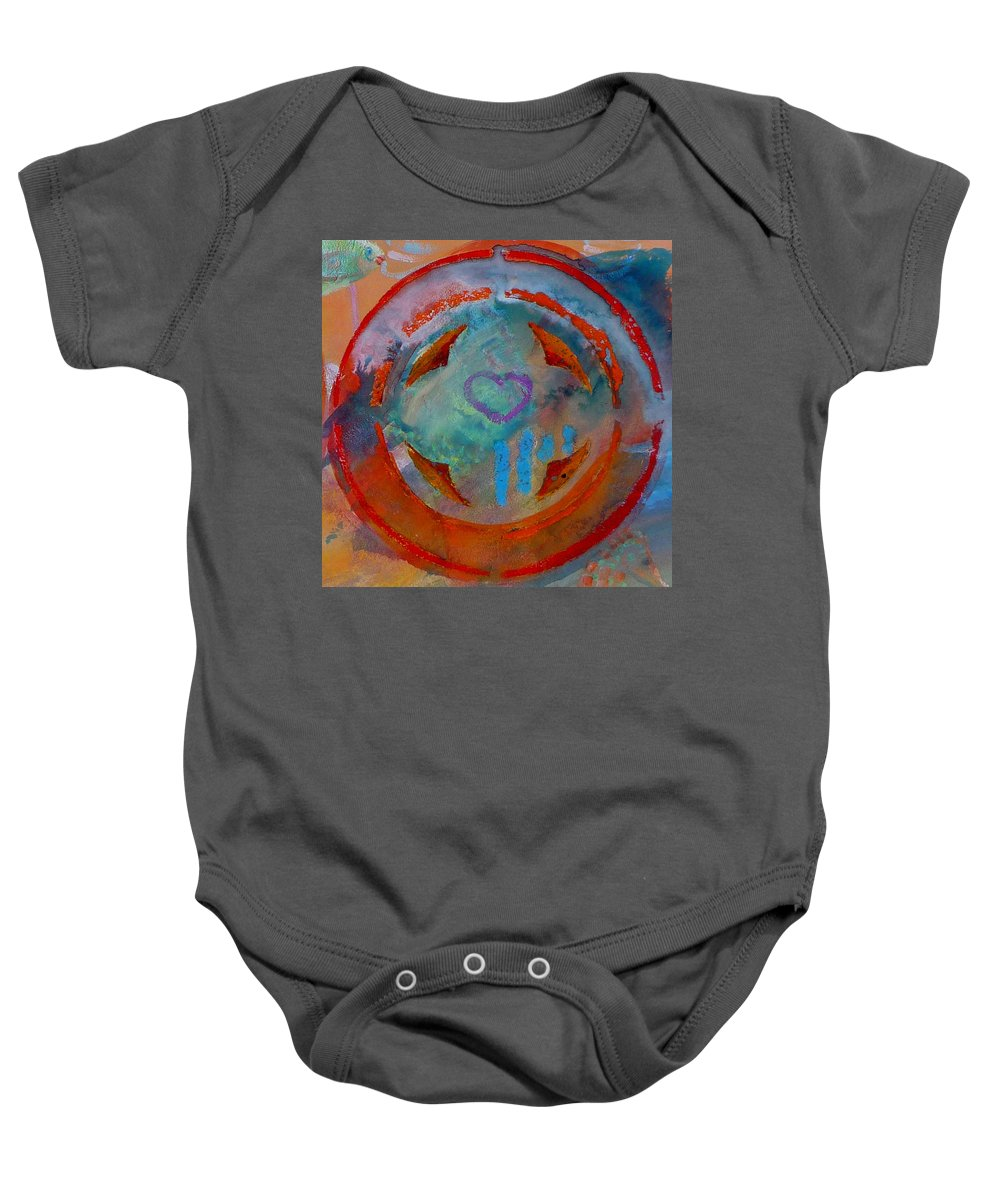 Love Baby Onesie featuring the painting Landscape Seascape by Charles Stuart