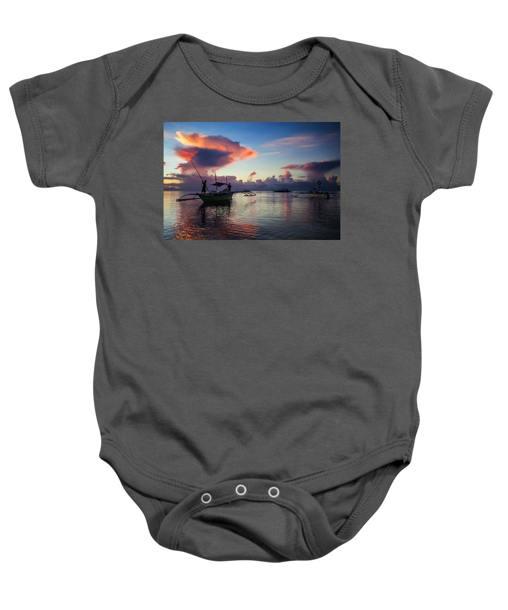 Landscape Baby Onesie featuring the photograph Landscape Series 12 by George Cabig