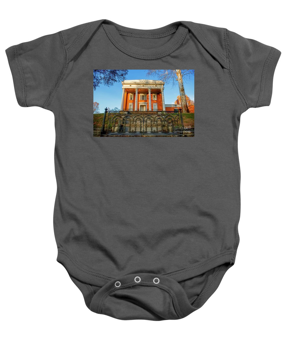 Madison Indiana Baby Onesie featuring the photograph Lanier Mansion by David Arment