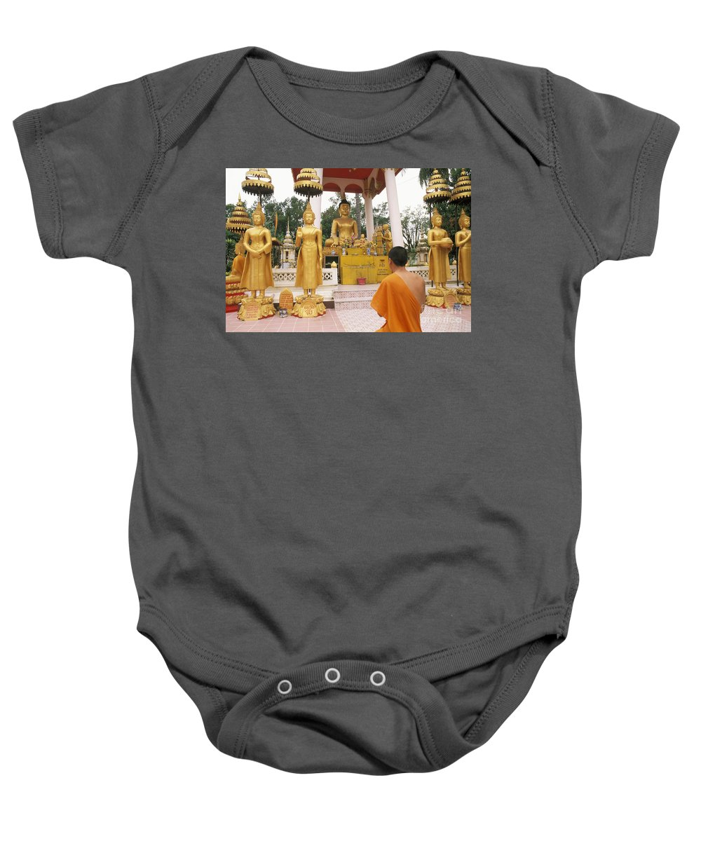 Asian Baby Onesie featuring the photograph Laos, Vientiane by Bill Bachmann - Printscapes