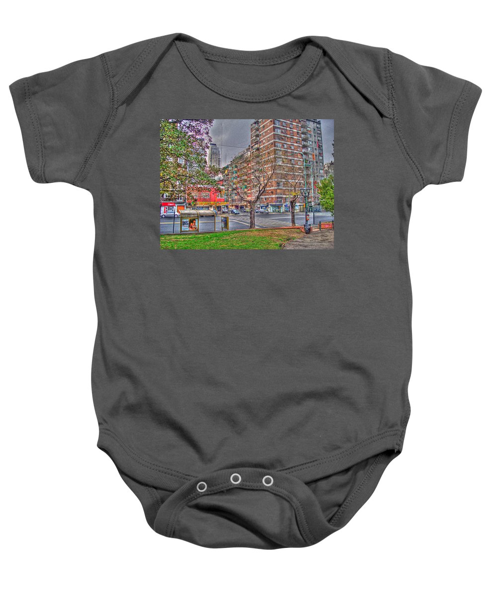 Street Baby Onesie featuring the photograph Las Heras by Francisco Colon