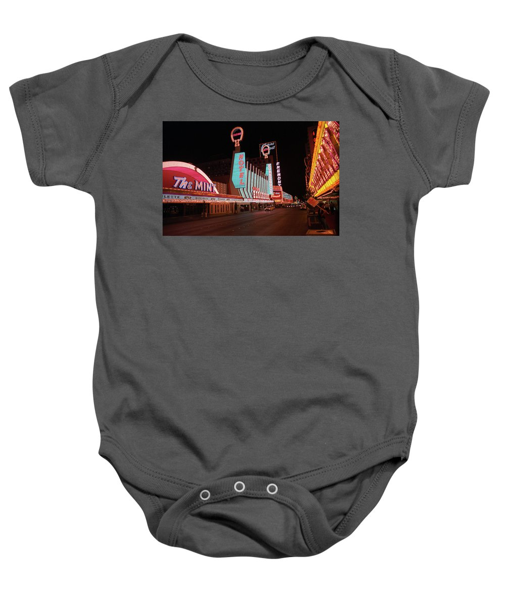 Art Baby Onesie featuring the photograph Las Vegas 1983 #4 by Frank Romeo