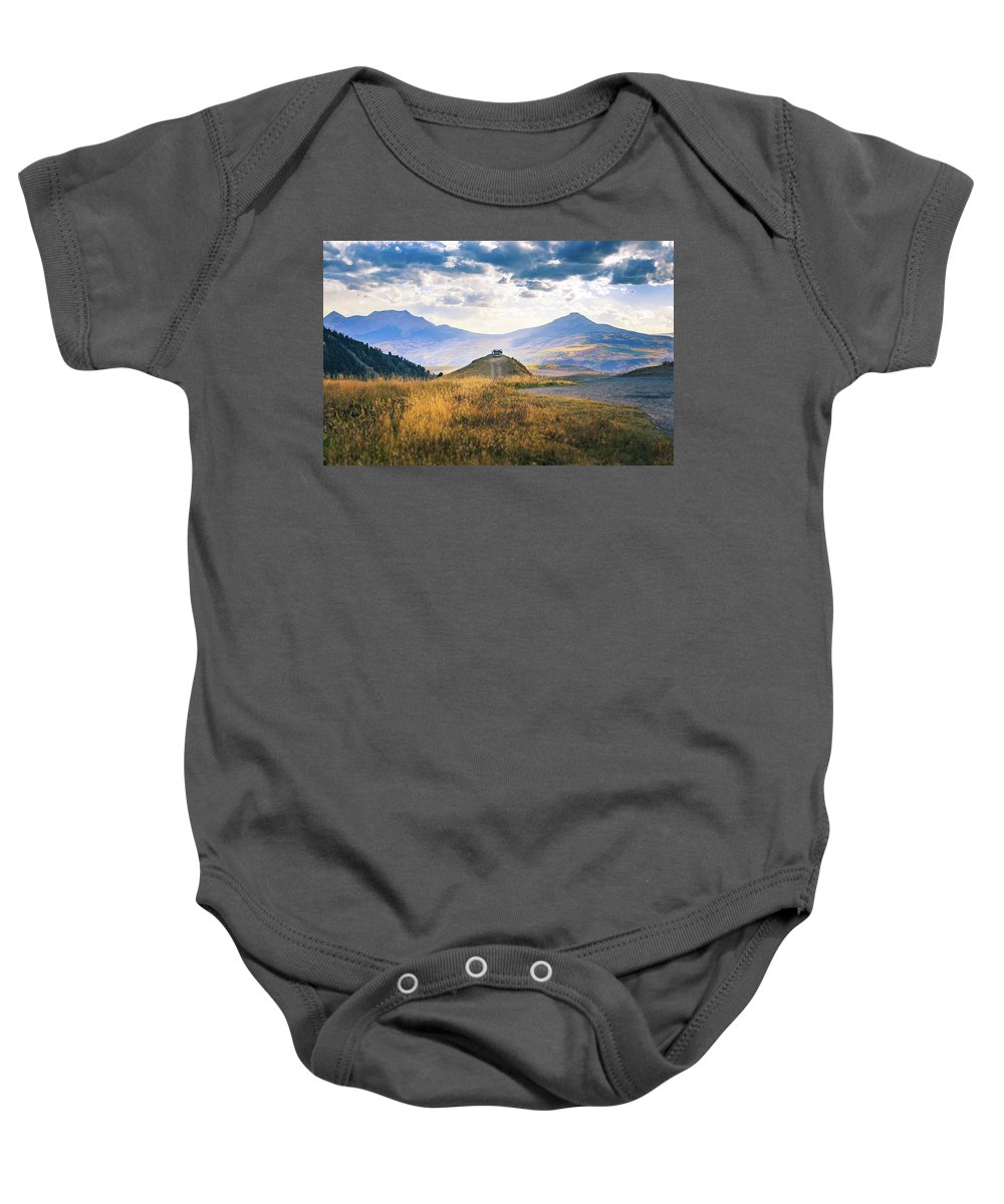 Colorado Baby Onesie featuring the photograph Last Dollar Road by Larry Mcmillian