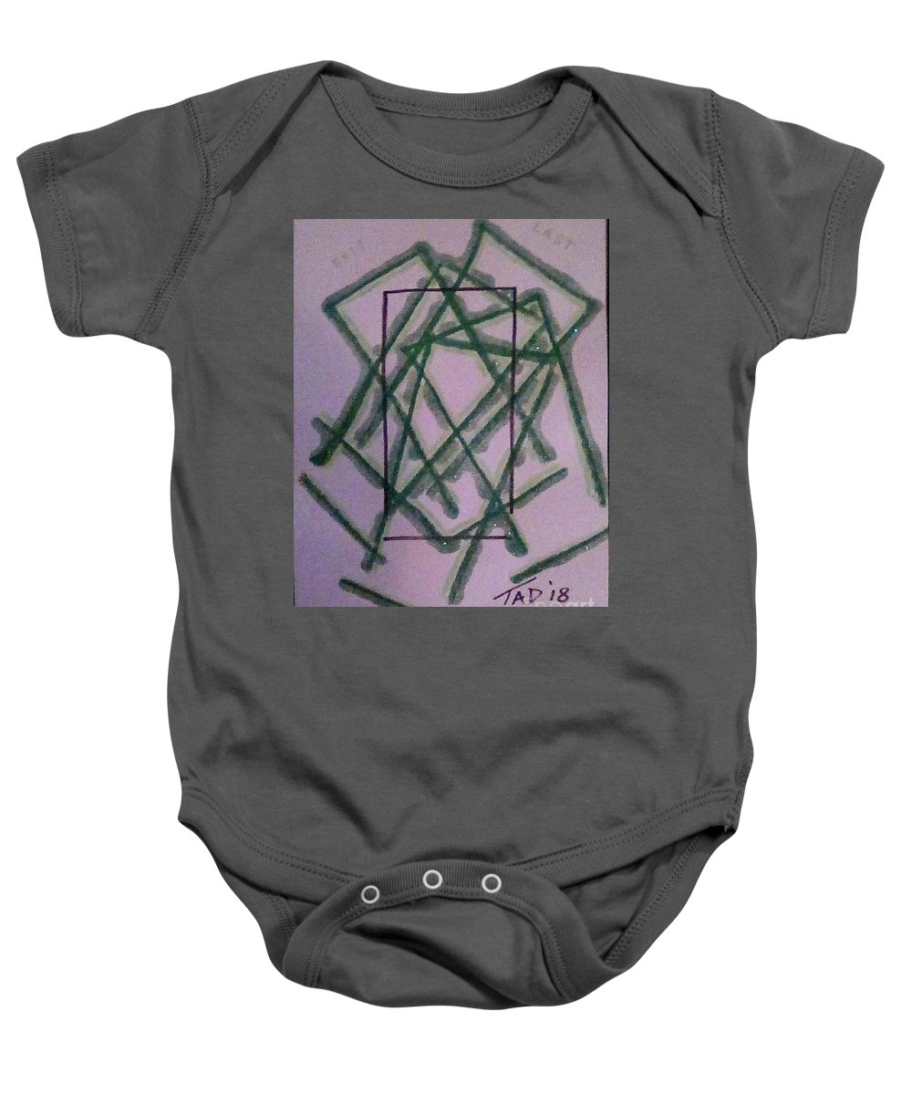 Door Baby Onesie featuring the mixed media Last Exit by Trevor Desrosiers