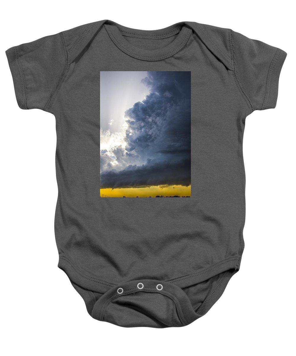 Nebraskasc Baby Onesie featuring the photograph Last Nebraska Supercell Of The Summer 038 by NebraskaSC