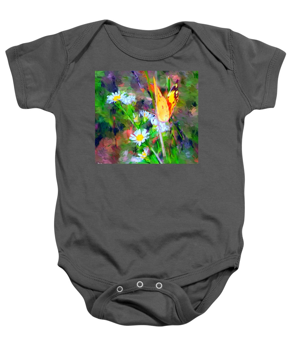 Landscape Baby Onesie featuring the painting Last Of The Season by David Lane