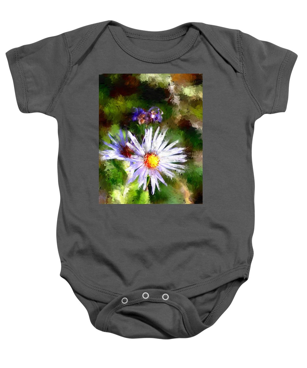 Flower Baby Onesie featuring the photograph Last Rose Of Summer by David Lane