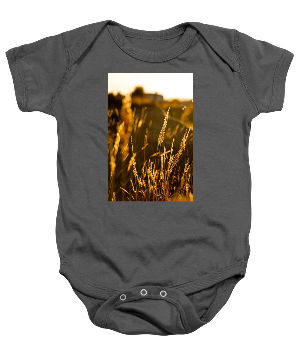 Autumn Baby Onesie featuring the photograph Late Afternoon by U Schade