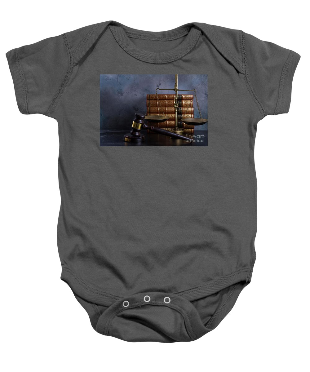 Law Baby Onesie featuring the photograph Law And Justice II by Anastasy Yarmolovich