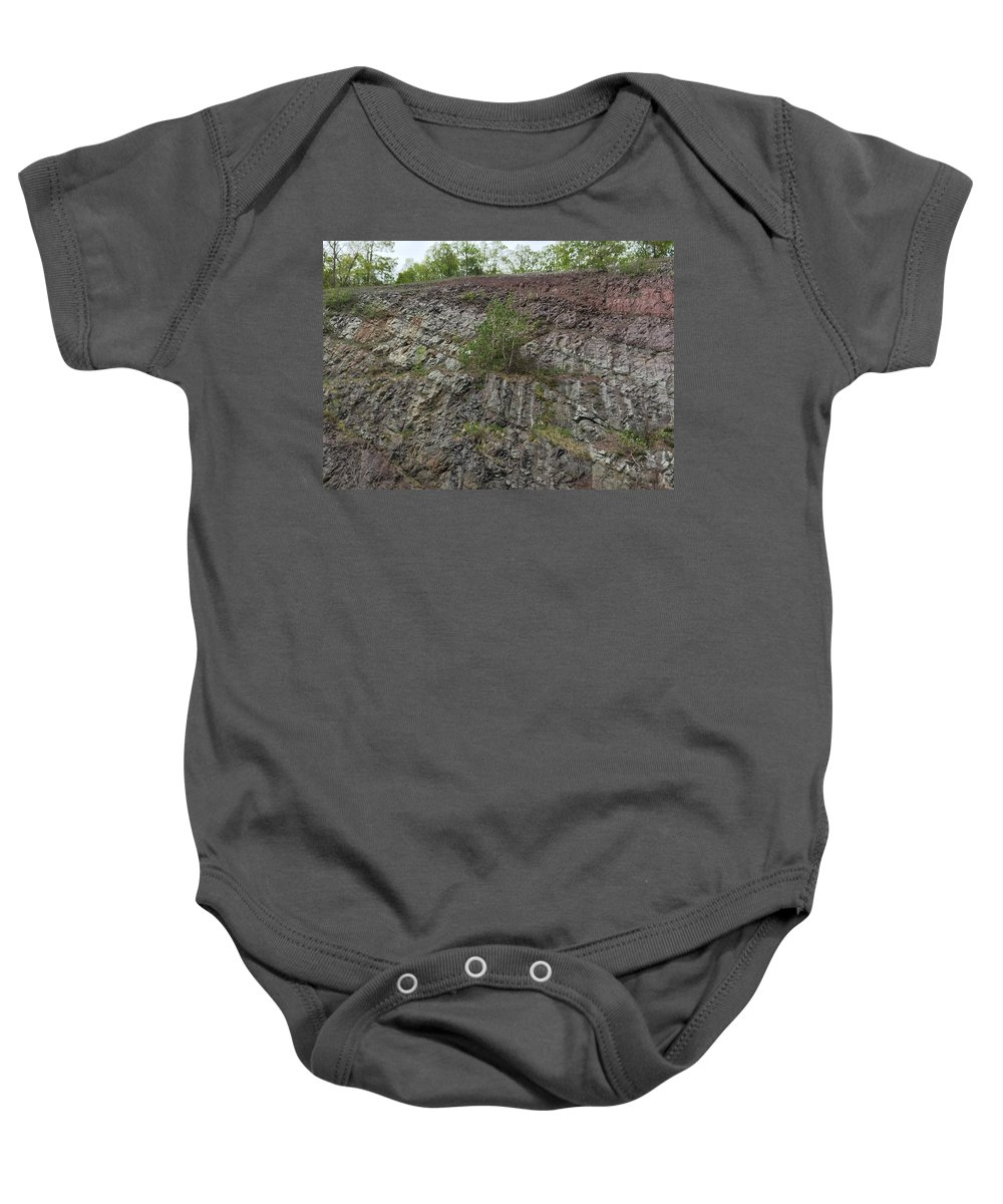 Rock Baby Onesie featuring the photograph Layer Rocks 3 by Sabina Trzebna
