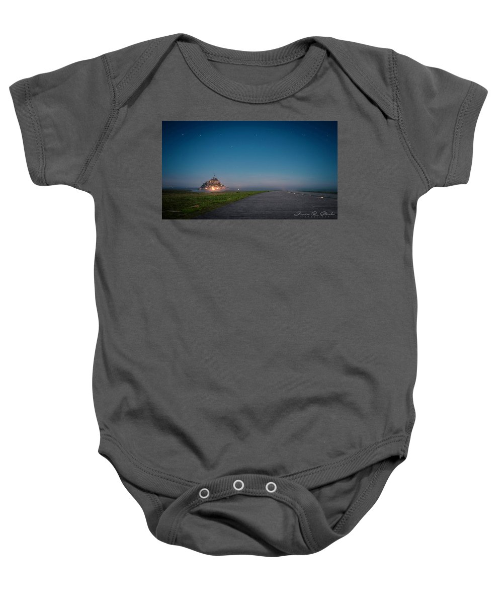 Water Baby Onesie featuring the photograph Le Mont Saint Michel by Jason Steele