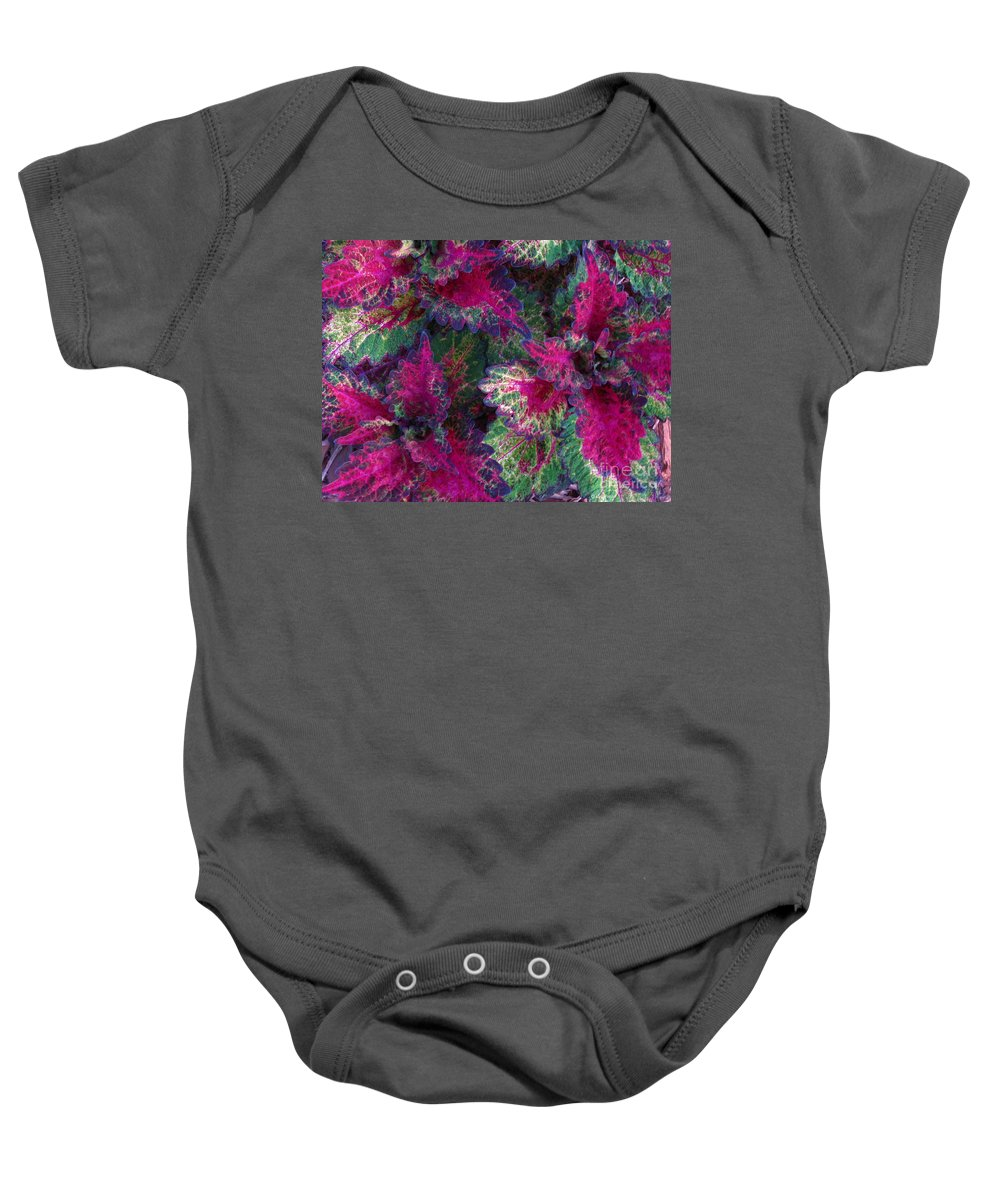 Patzer Baby Onesie featuring the photograph Leaf Power by Greg Patzer
