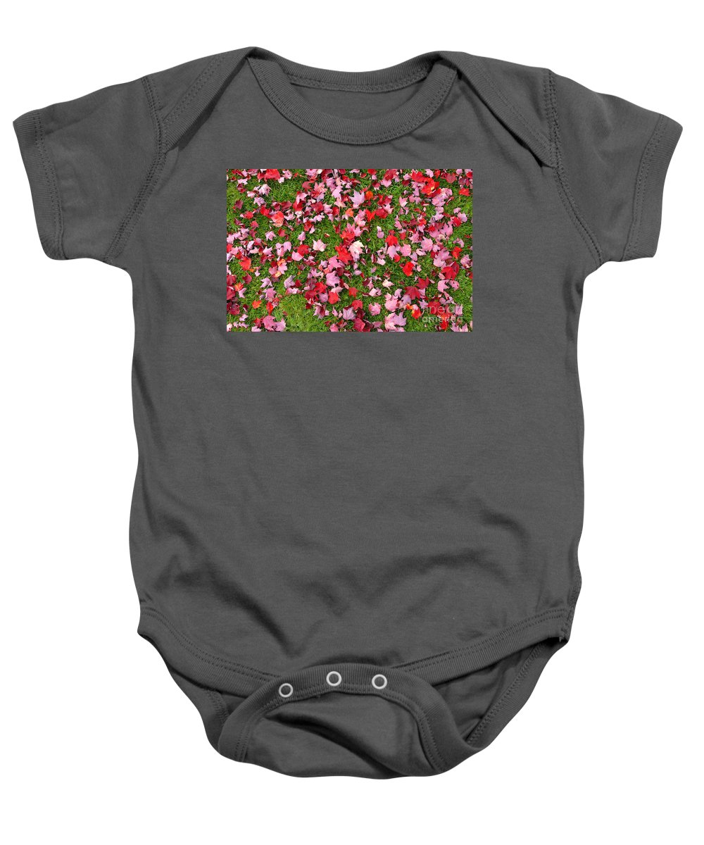 Leafs Baby Onesie featuring the photograph Leafs On Grass by David Lee Thompson
