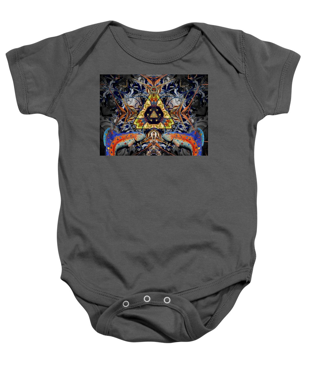 Baby Onesie featuring the digital art Leaping Fish by Glen Faxon