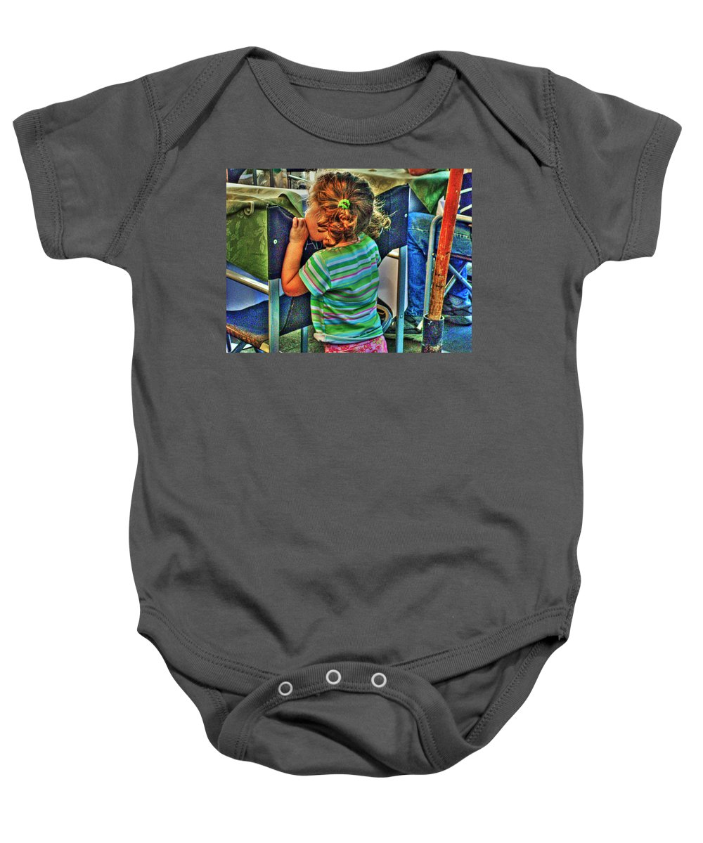 Child Baby Onesie featuring the photograph Learning by Francisco Colon