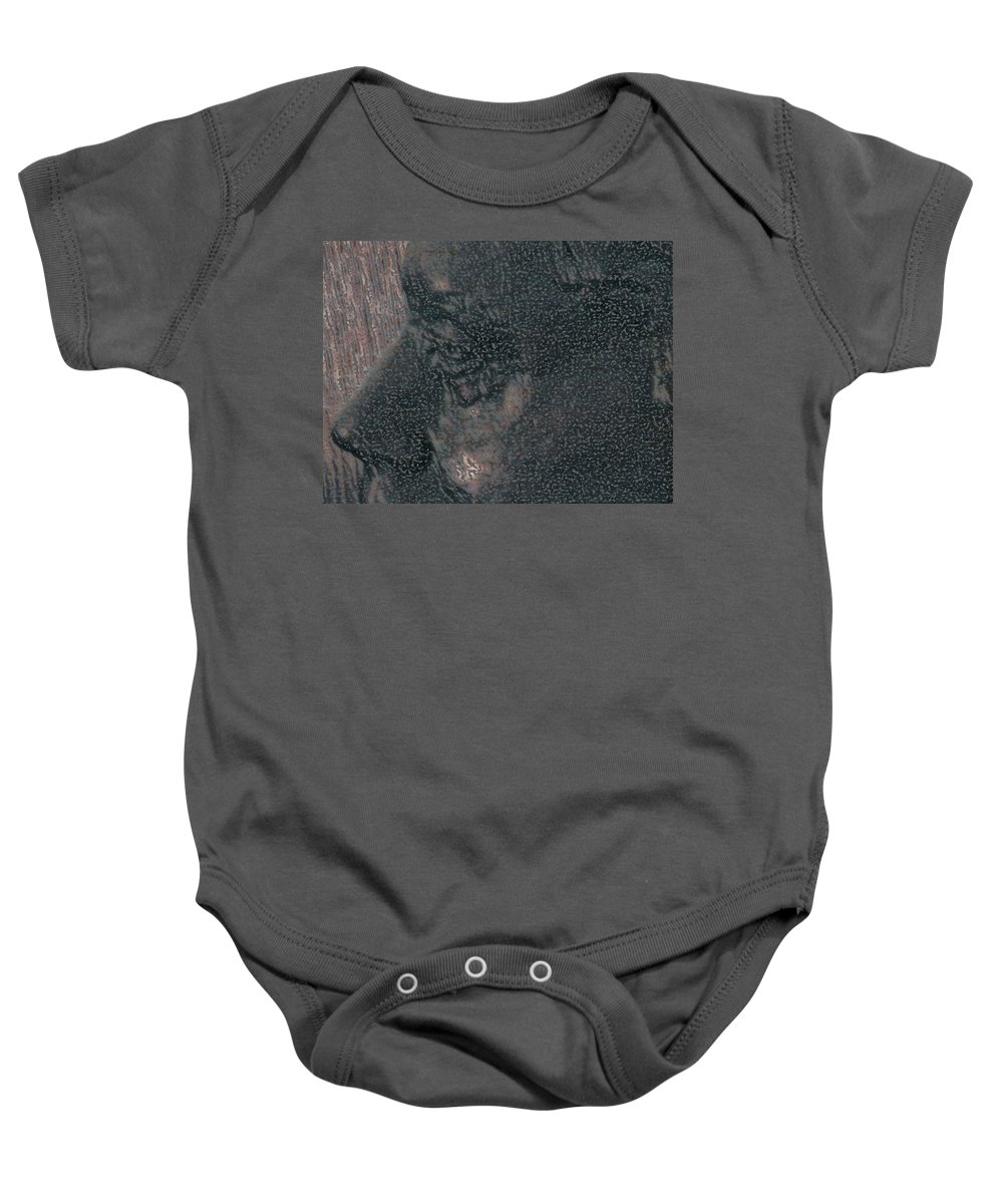 Abstract Baby Onesie featuring the photograph Lenore As Bronze 2 by Lenore Senior