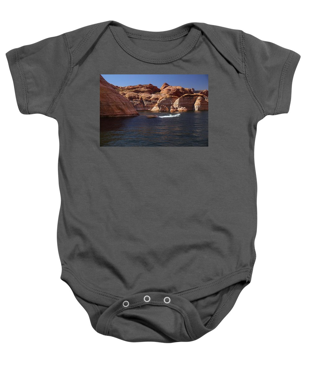 Lake Powell Baby Onesie featuring the photograph Let Me Take You On A Ride by Lucinda Walter