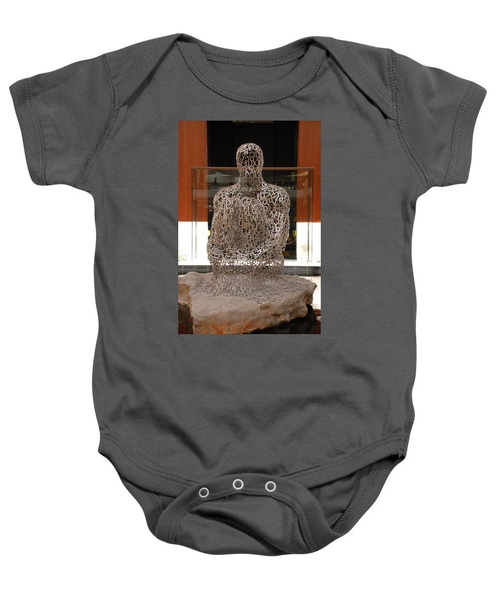 Scultures Baby Onesie featuring the photograph Letter Man In Color by Rob Hans
