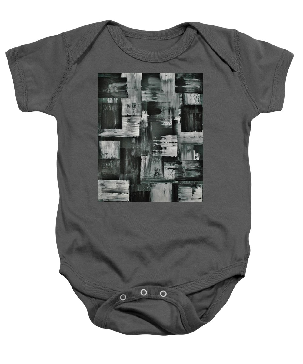 Abstract Baby Onesie featuring the painting Levi by Wayne Cantrell