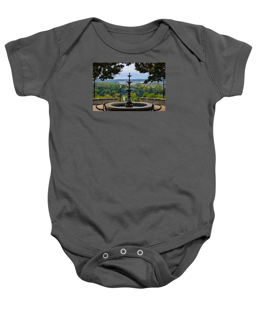 Richmond Baby Onesie featuring the photograph Libby Hill Park by Aaron Dishner