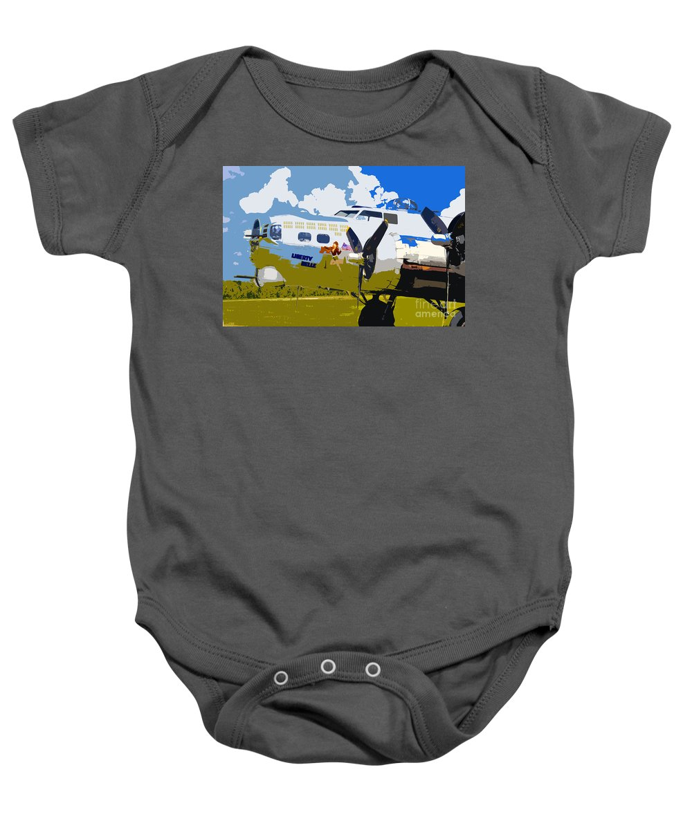 Flying Fortress Baby Onesie featuring the photograph Liberty Belle by David Lee Thompson