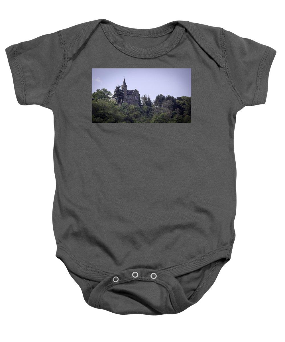 Teresa A Mucha Baby Onesie featuring the photograph Liebeneck Castle 05 by Teresa Mucha