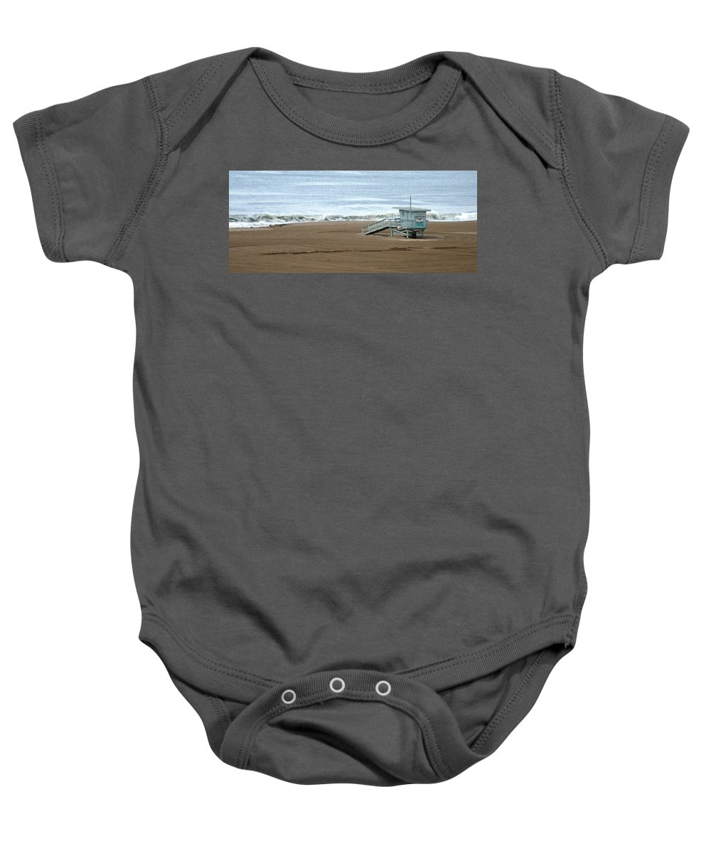 Beach Baby Onesie featuring the photograph Life Guard Stand - Color by Shari Chavira