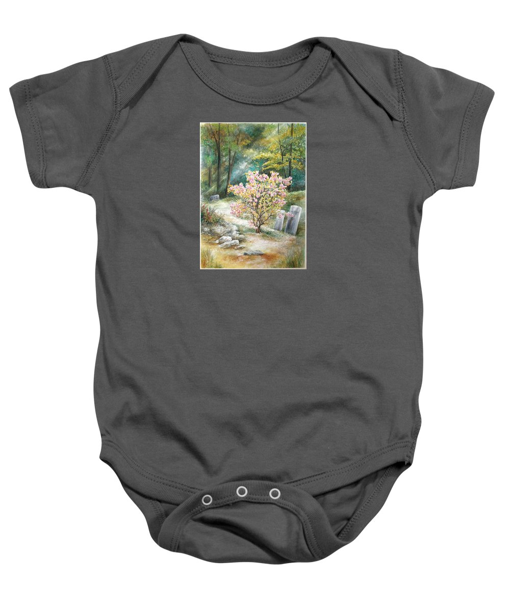 Landscape Baby Onesie featuring the painting Life by Valerie Meotti