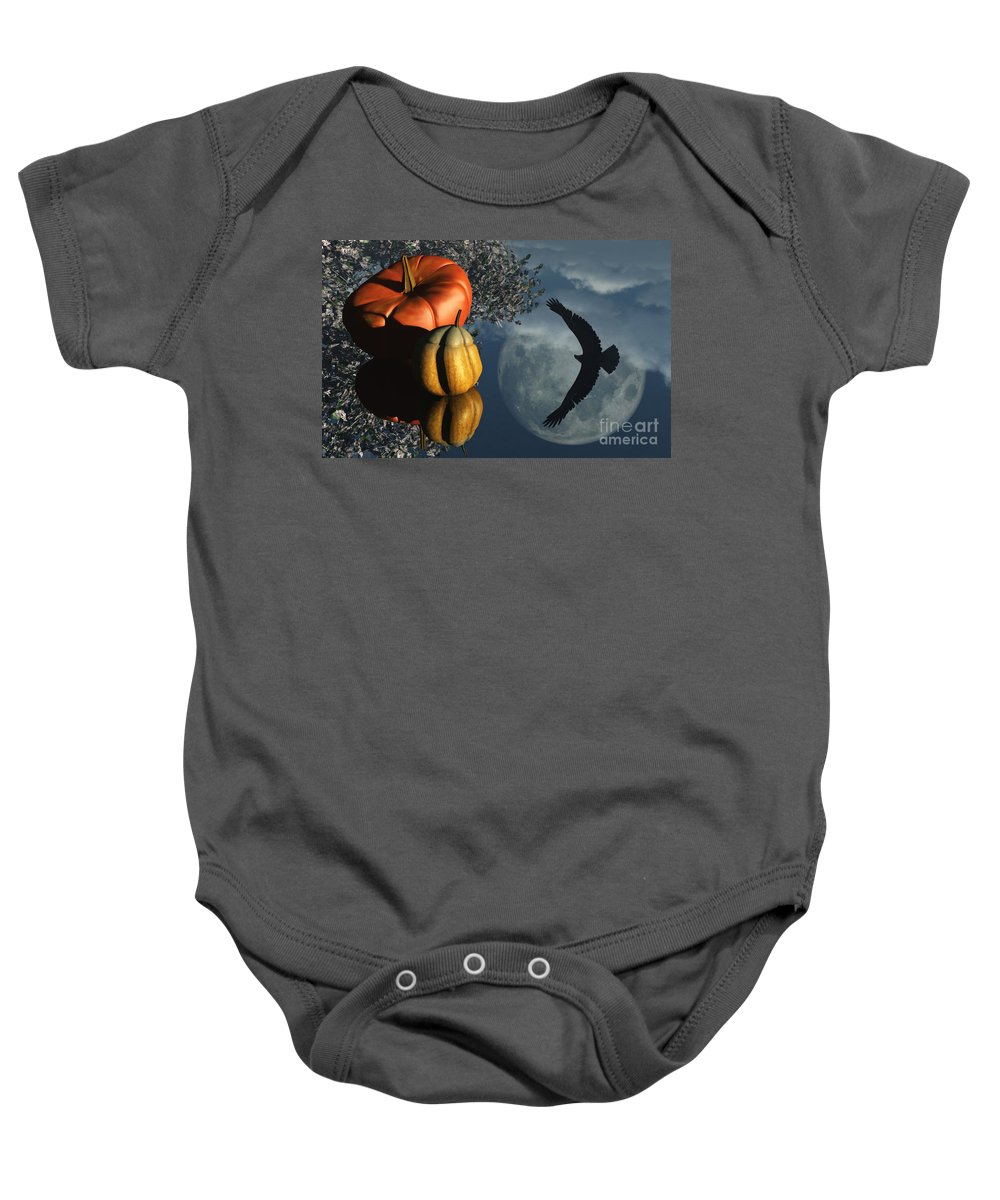 Harvest Moon Baby Onesie featuring the digital art Life's Reflections by Richard Rizzo
