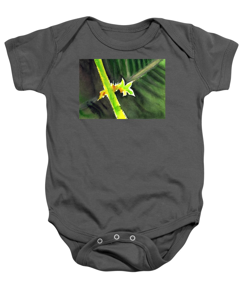 Water Color Baby Onesie featuring the painting Light Branch by Anil Nene