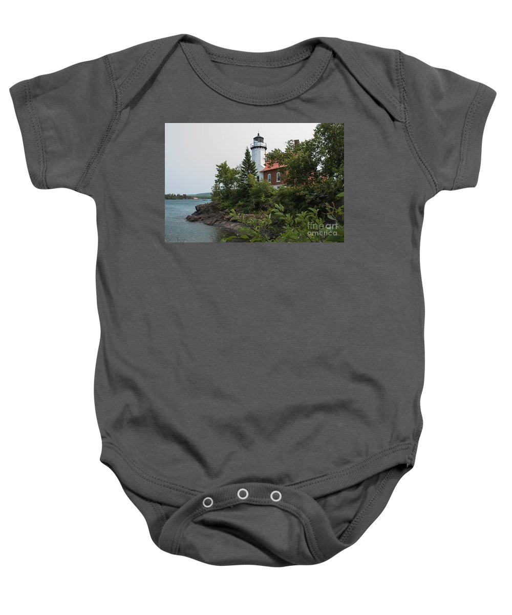 Lighthouse Baby Onesie featuring the photograph Lighthouse 4 by Wesley Farnsworth