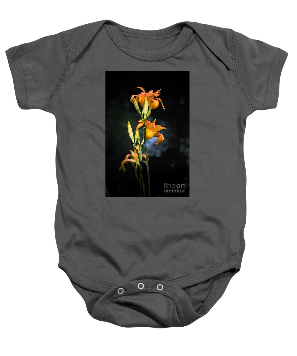 Lily Monet Garden Flora Baby Onesie featuring the photograph Lily In Monets Garden by Sheila Smart Fine Art Photography