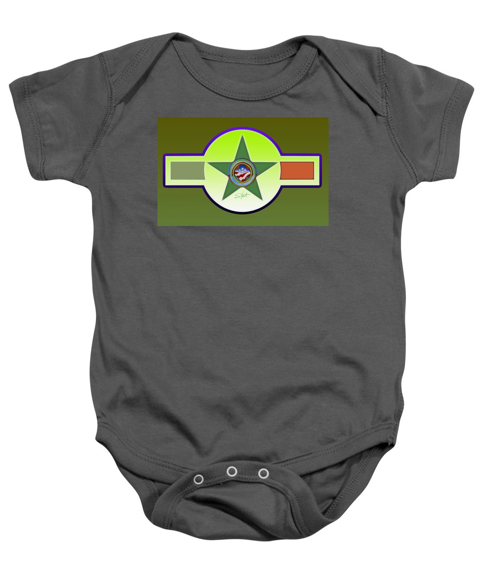 Insignia Baby Onesie featuring the painting Limey Landscape by Charles Stuart