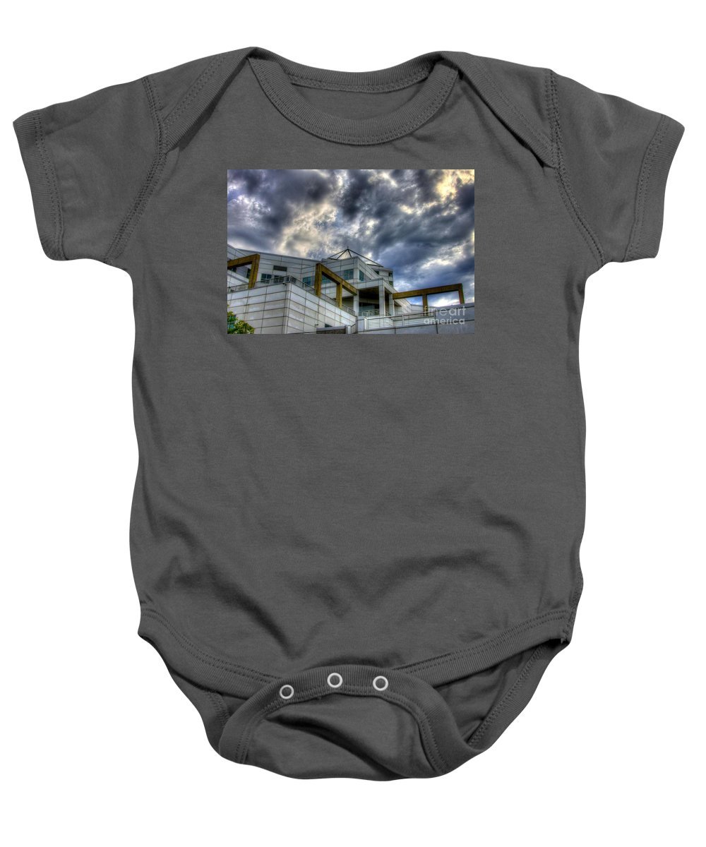 City Scape Baby Onesie featuring the photograph Lines And Points by Robert Pearson