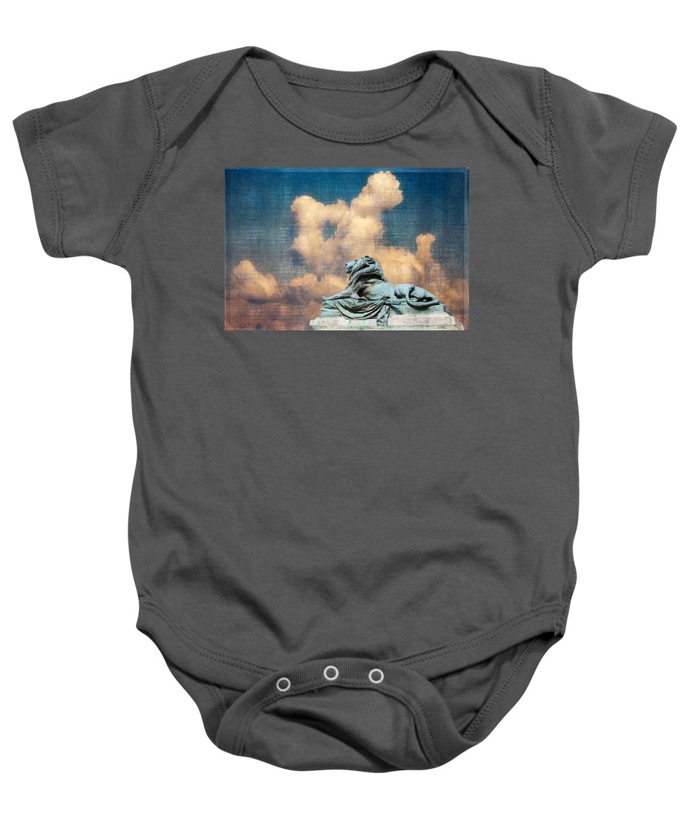 Washington Dc Baby Onesie featuring the photograph Lion In The Clouds by Alice Gipson
