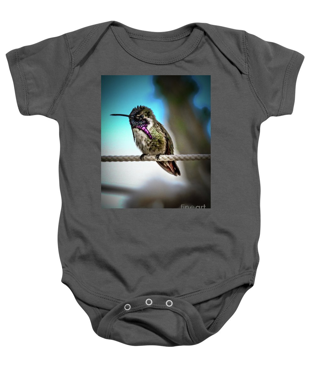 Birds Baby Onesie featuring the photograph Little Costa's by Robert Bales
