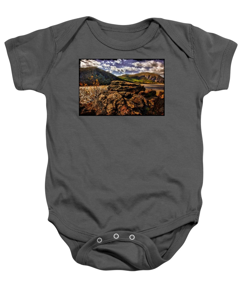 Rocks Baby Onesie featuring the photograph Little Stoney Point by Chris Lord