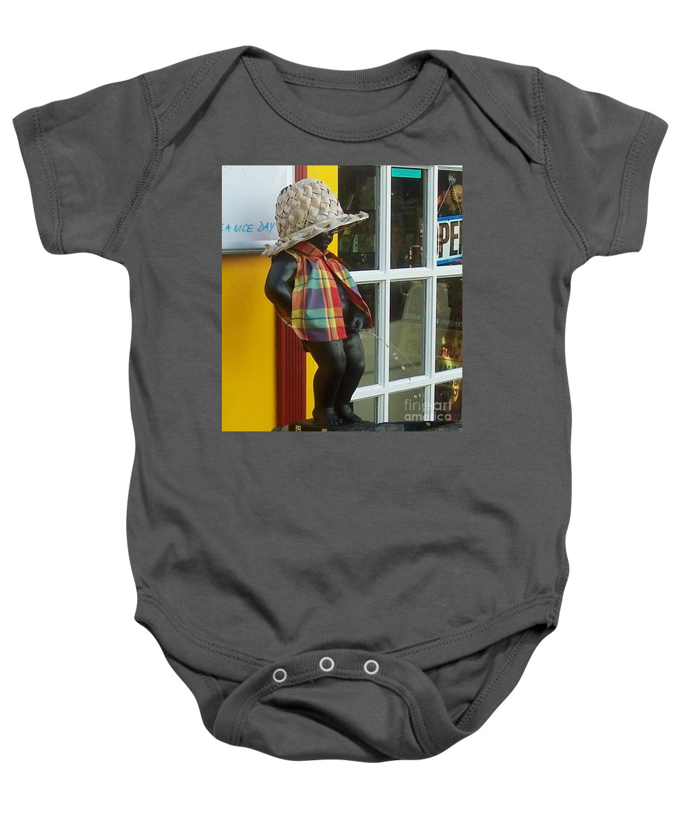 Fountain Baby Onesie featuring the photograph Little Wiz by Debbi Granruth