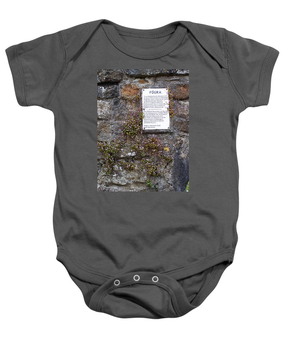 Irish Baby Onesie featuring the photograph Living Wall At Donegal Castle Ireland by Teresa Mucha