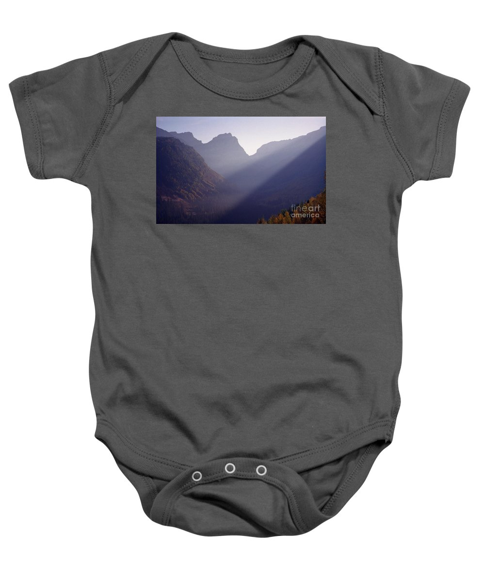 Mountains Baby Onesie featuring the photograph Logan Pass by Richard Rizzo
