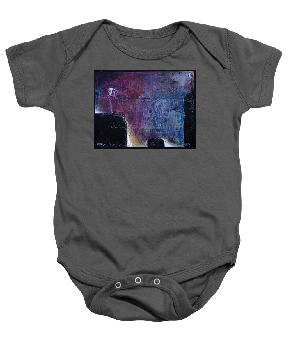 Laurie Maves Baby Onesie featuring the painting Lollipop Love No. 3 by Laurie Maves ART