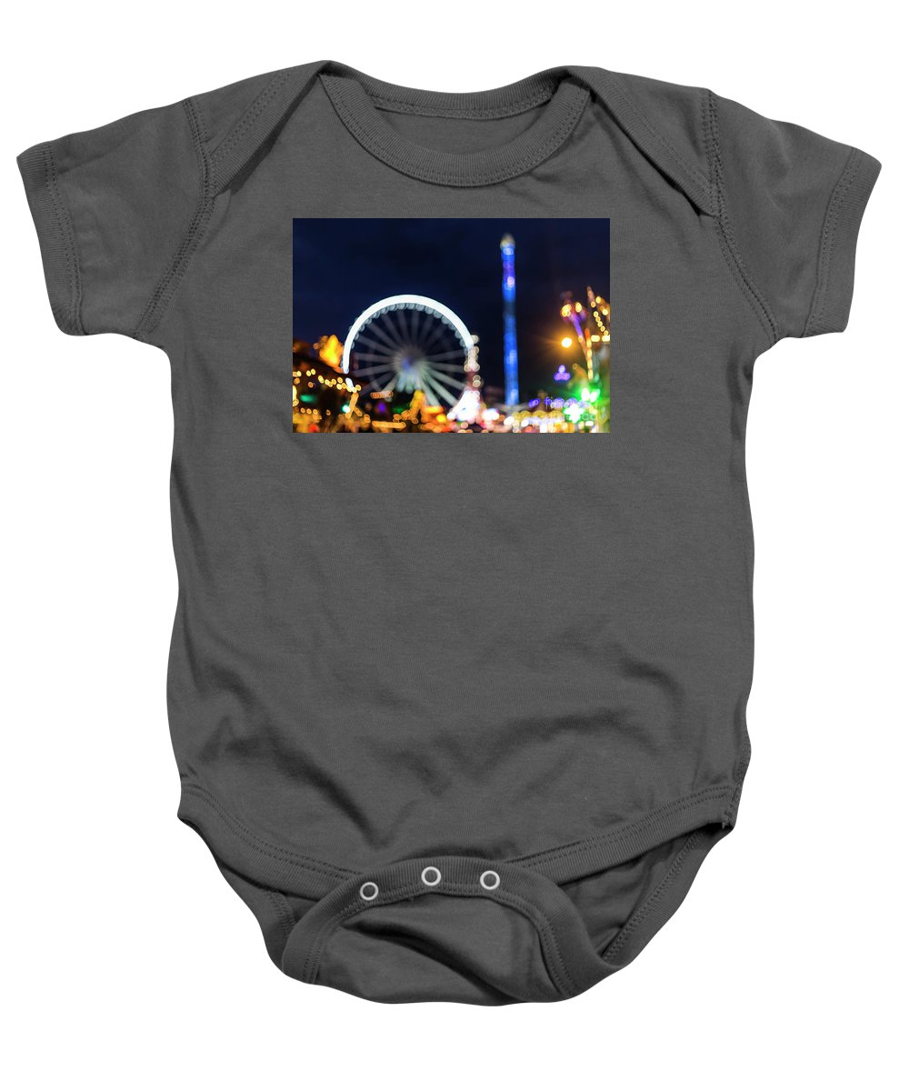 Big Ben Baby Onesie featuring the photograph London Christmas Markets 12 by Alex Art and Photo