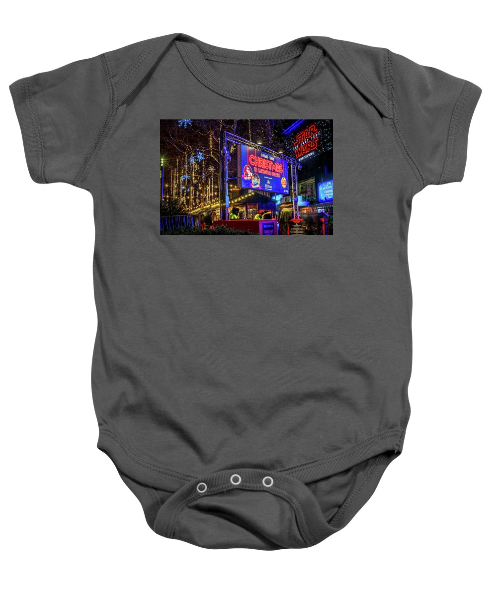 London. Christmas. Star Wars. City. Urban. Baby Onesie featuring the photograph London Christmas. Star Wars. by Yau Ming Low