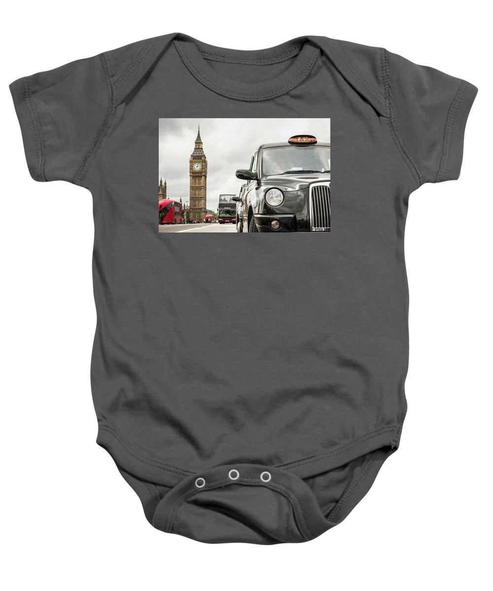 Background Baby Onesie featuring the photograph London City by Spyros Arsenis