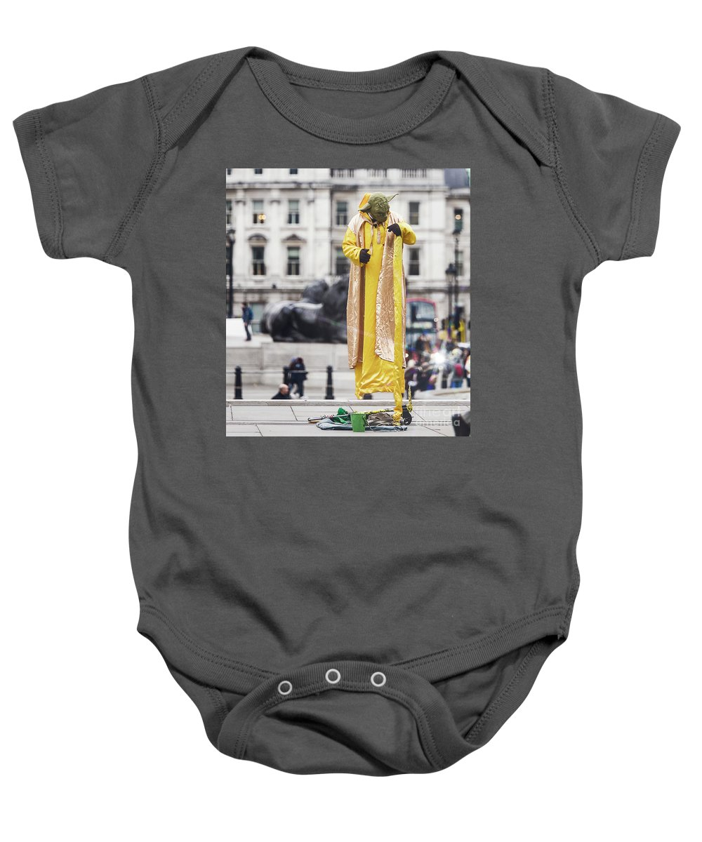 National Gallery London Baby Onesie featuring the photograph London Street Artists 4 by Alex Art and Photo