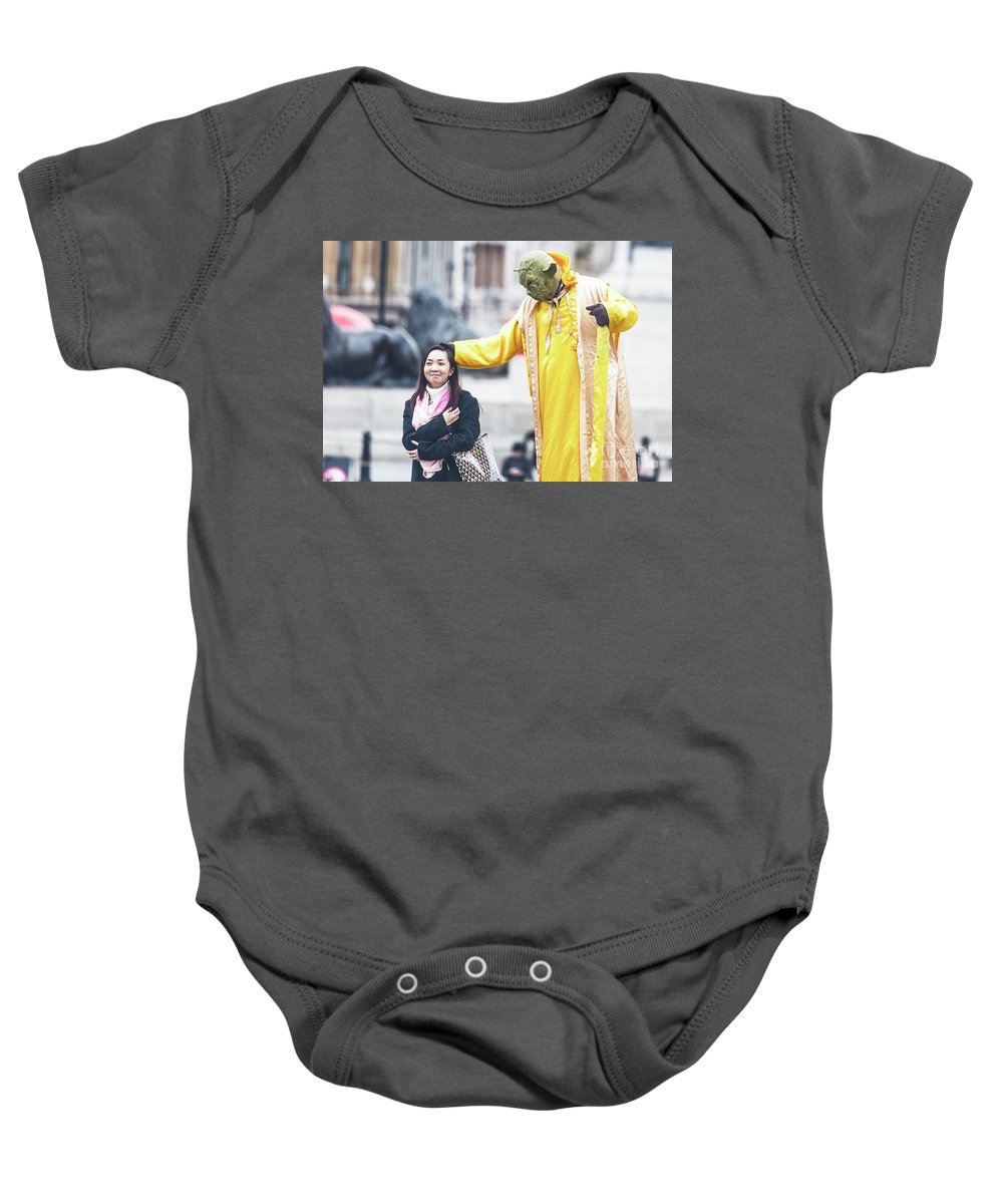 National Gallery London Baby Onesie featuring the photograph London Street Artists by Alex Art and Photo