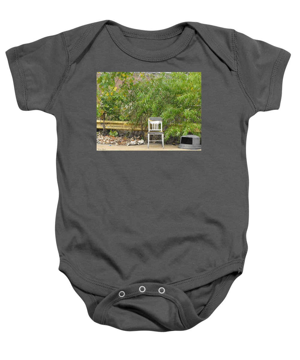 Lone Chair Baby Onesie featuring the photograph Lone Chair by Ginger Repke