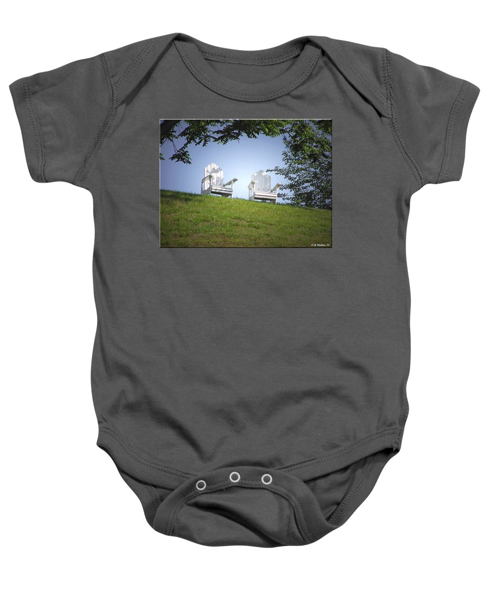 2d Baby Onesie featuring the photograph Lonely Companions by Brian Wallace