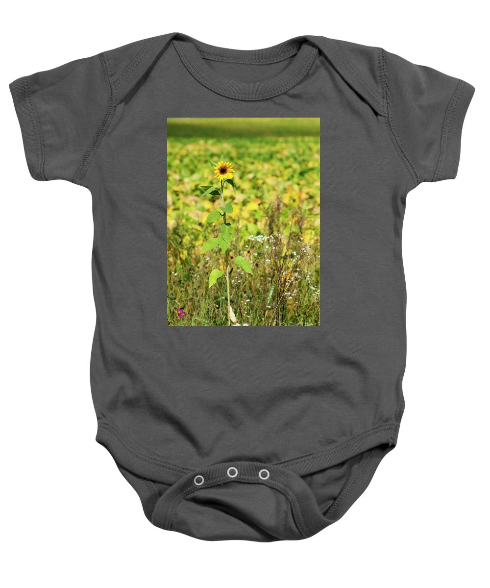 Landscape Wild Flower Garden Baby Onesie featuring the photograph Lonely In The Wild by Kristen Sanders