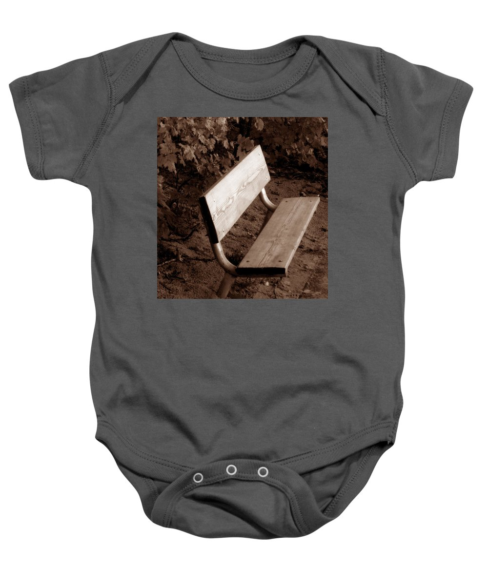 Lonliness Baby Onesie featuring the photograph Lonely by Wayne Potrafka